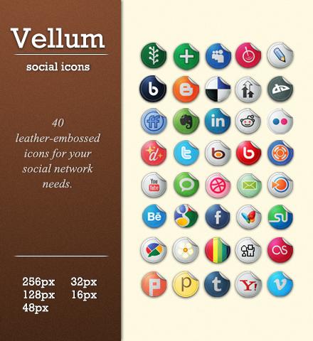 Snygga sociala ikoner 1