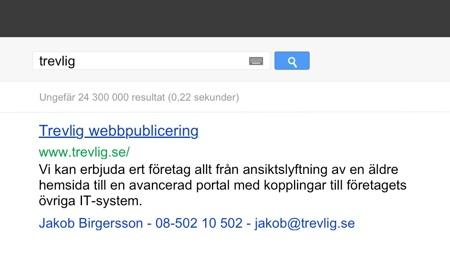 Google visitkort